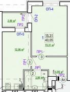 Продам 1-но кімн. квартиру в новобудові ЖК Гідропарк